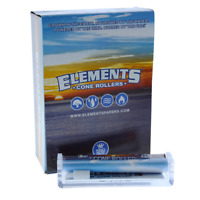 Elements Cone King Size - 2 ROLLERS - Cigarette Machine Roll Papers Blue Hand