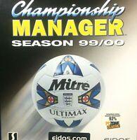 Eidos Championship Manager Season 99/00 Big Box inc Poster Windows 95/98 Superb!