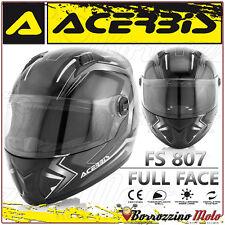CASO INTEGRALE ACERBIS FS-807 MOTO SCOOTER FULL FACE NERO BIANCO TAGLIA XL