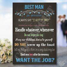 Personalised Will you be my Best man Usher Groomsman Invitation Invites card