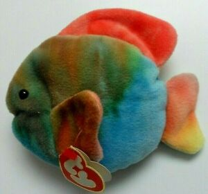 TY 3rd GEN CORAL the FISH BEANIE BABY - MINT with TAG - SEE PICS