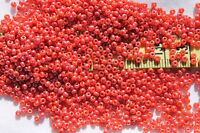 11/0 Old Time Glass Vintage French Luster Coral Seed Beads 1oz
