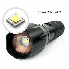 8000LM CREE XM-L2 LED Flashlight Torch Outdoor Zoomable Torch 5 Modes 18650/AAA