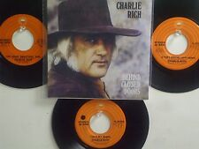 LOT OF 4 ' CHARLIE RICH ' HIT 45's+1P(Copy)[Behind Closed Doors]     THE 70's !