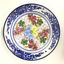 Vintage Pintado A Mano Flower Print Plate #915