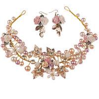 Pearl Flower Crystal Rhinestone Wedding Bridal Headband Clip Hair Band Handma &h