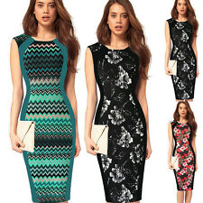 Elegant Women Summer OL Bodycon Evening Party Work Office Pencil Business Dress