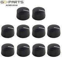 """Black Guitar amp Effect Pedal OverDrive Knob 1/4"""" Hole With Set screw 21x12mm*10"""