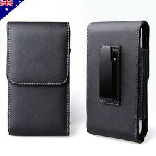Black Belt Clip Leather Case Pouch for Nokia Lumia 523 735 630 635 930 530