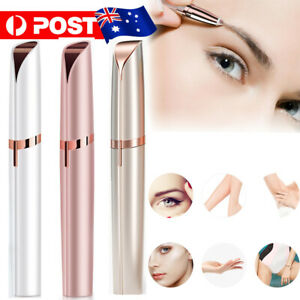 Flawless Brows Facial Hair Remover Electric Eyebrow Trimmer Epilacator led light