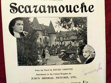 RAMON NOVARRO 1924 silent movie RARE sheet music,SCARAMOUCHE, British edition