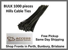 CableTi1000 x Hills Black UV Stablilised 300mm x 4.8mm Ties Zip Nylon Cable Ties