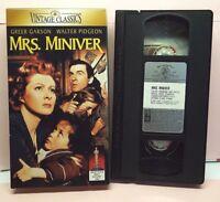 Mrs. Miniver VHS, 2000 Greer Garson & Walter Pidgeon Vintage Classics 1942