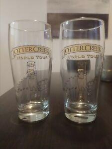 "Set of 2 OTTER CREEK ""WORLD TOUR"" Beer Glasses"