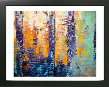 16 x 20 ORIGINAL MODERN ABSTRACT  LANDSCAPE FINE ART POSTER FOR SALE