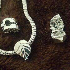 Leaf Clip Stopper Slide Bead for Silver European Style Charm Bracelet