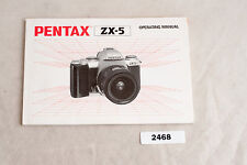 Pentax ZX-5 Operating Manual User Guide Owner English Version ✺468
