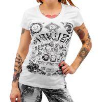 "YAKUZA - Damen T-Shirt (Girlie) GSB 7115 ""Skull Collection"" white (weiß), M"