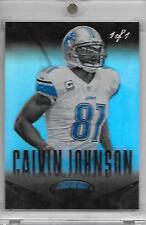 2014 Panini Certified CALVIN JOHNSON Mirror Black 1/1 Detroit Lions future HOF