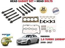 pour Opel INSIGNIA 1.6 TURBO a16let 2008-2017 Set Joint de culasse+Kit boulons