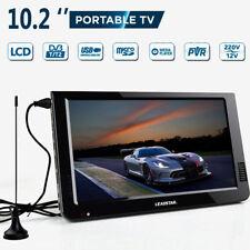 12V Portátil DVB-T2 10.2'' TFT LED HD Digital Televisor Analog AC/DC Coche Casa