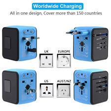 Universal 4-USB Port Adapter Plug International World Travel Adapter Converter