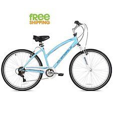 "Kent Hybrid Bike 26"" Women 7 speed Comfort Bicycle Shimano Blue New!"
