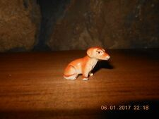 MINIATURE DACHSHUND FIGURINE, Porlain Dog Figure, Puppy
