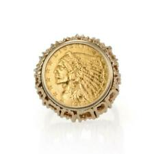 2884 Estate 22k Liberty Chief Head Gold Coin 14k Gold Ring LIQUIDATION