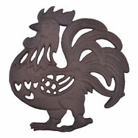 Decorative Cast Iron Rooster Trivet Kitchen Decor Hot Pad Pot Stand