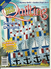 Quick & Easy Quilting Magazine Aug 1999 V21 N4 Nine patch sunflower quilt c