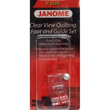 "JANOME CLEAR VIEW 1/4"" QUILTING + STITCH IN THE DITCH FOOT WITH 2 GUIDES 9mm"