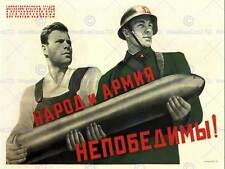 WAR PROPAGANDA WW2 PEOPLE ARMY SOVIET UNION VINTAGE ADVERTISING POSTER 2752PY