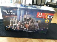 Puzz 3D New York, New York Wrebbit 3141 Puzzle twin towers FACTORY SEALED!