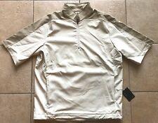 Nike Golf Dri-Fit Tech Half-Zip Wind S/S Jacket-Birch/Khaki-Large- Nwt