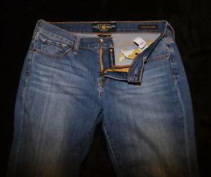 Lucky Brand Charlie Capri blue stretch jeans Women's 10 / 30 Super comfy!