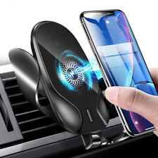 Fast Charging Wireless Car Charger Phone Holder Mount Automatic Sensor Clamping