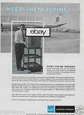 PAN AM 707 AT SAN FRANCISCO AIRPORT PAA HANGARS WATKINS JOHNSON AVIONIC 1969 AD
