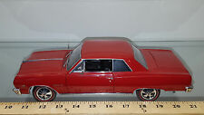 1/18 ERTL AMERICAN MUSCLE AUTHENTICS 1965 CHEVROLET CHEVELLE SS 396 RED DETAILED