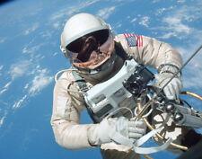 """NASA Gemini Astronaut floats in zero gravity 14 x 11"""" Photo Print"""