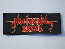 NOCTURNAL BREED EMBROIDERED RED LOGO BLACK THRASH METAL PATCH