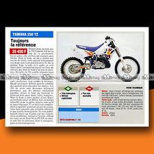 ★ YAMAHA 250 YZ ★ 1994 Essai Moto / Original Road Test #c374