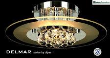 DIYAS Delmar 4 Luce Cromata & Lampadario tondo cristallo soffitto il30021