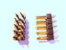 50 x Conector Macho 2x5polig 10polig 2,54mm ORO # 11u30 #