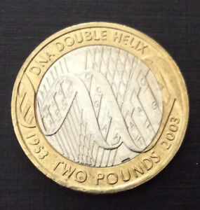 £2 Coin DNA Double Helix 2003 FREEPOST