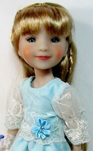 """**OOAK** ~BLUE FRENCH LACE ~  For  14.5"""" RUBY RED FRIENDS & WELLIE WISHERS"""