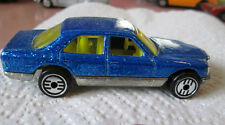 1981 Hot Wheels Metallic Blue Mercedes 380 SEL Car - Malaysia (Mint)