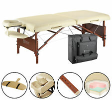 Master 30 inch Del Ray Portable Massage Table Beauty Bed Couch Package Sand