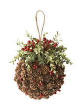 Ganz Mistletoe & Pinecone Kissing Ball (KK413)
