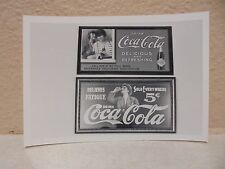 Vintage COCA-COLA PHOTO from COLA CALL Newsletter Of 2 Old Adds